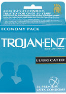 Trojan Condom Enz Lubricated 36 Pack