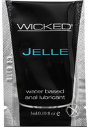 Wicked Jelle Latex Friendly Anal Lubricant Water Based 0.10...